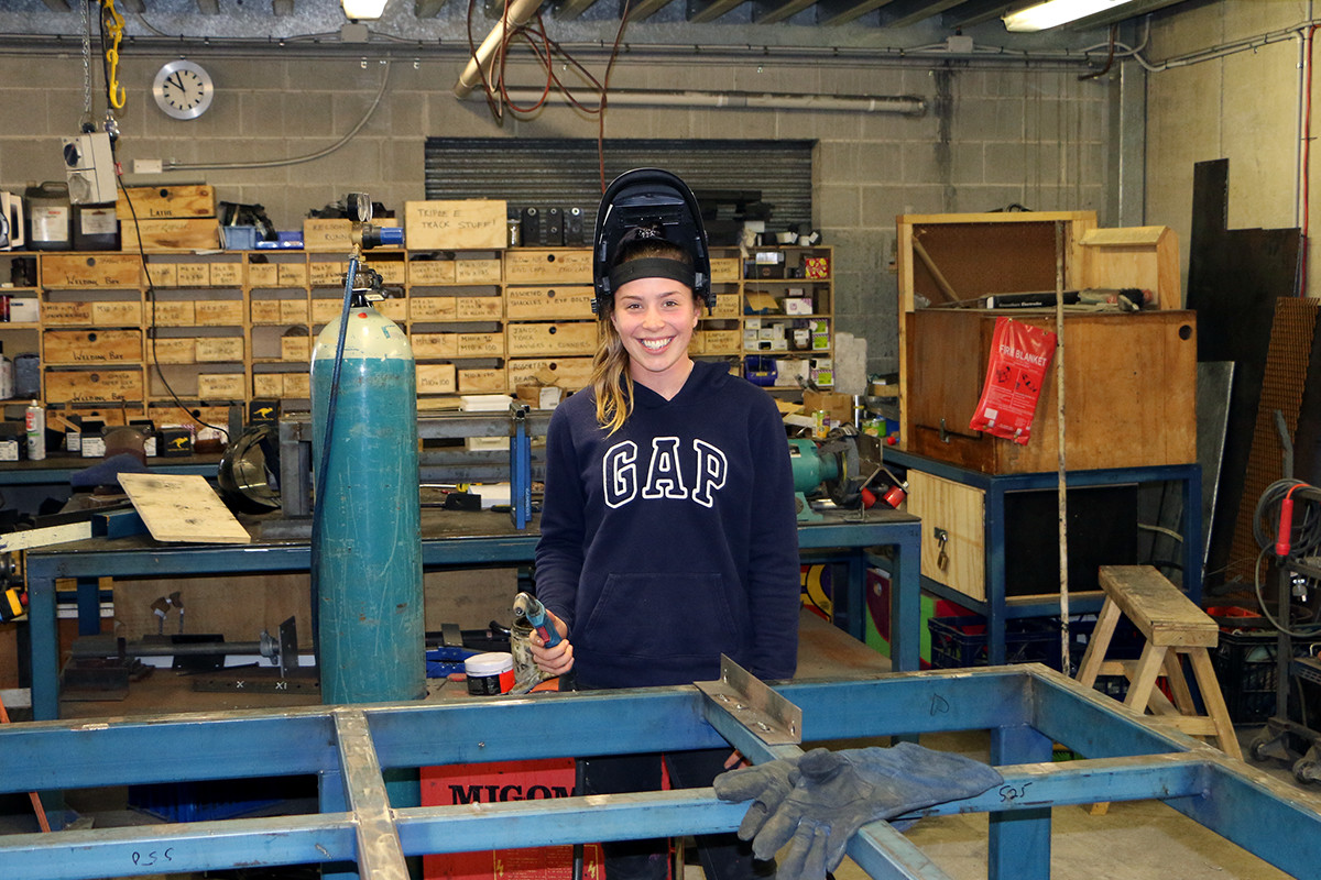 MLC School Old Girl, Taylor Hill in the Workshop